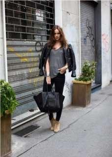 Girl PU Leather Luggage Tote Smile Bag Black Bat Hobo Handbag M02 Bag