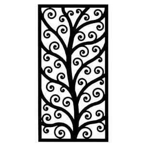 Rectangular Wrought Iron Metal Wall Art