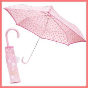 Japan Sanrio Hello Kitty Folding Umbrella Sakura Floral