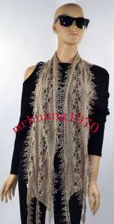 Laterest Style Fashion Lase Light Weight Spring Summer Long Scarf with
