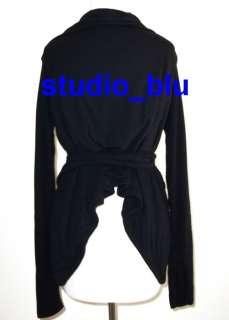 RICK OWENS Wrap Wool Angora Zipper Jacket Sweater 44 10