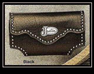 Justin BLACK Leather   iPhone CASE  Belt Clip  Western 701340339361