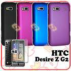 pcs Color Rubber Cover Case + LCD Protector For HTC Desire Z G2