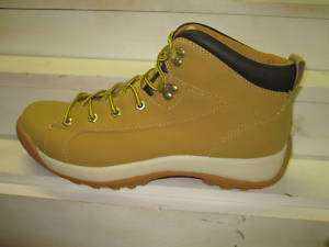 Mens New Kingshow Leather Hiking Boots Tan multi sizes