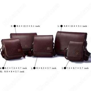 Kangaroo Mens Crossbody Shoulder Messenger Bag Briefcase Black S