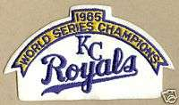 85 World Series Champs Kansas City KC Royals MLB Patch