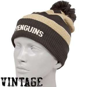 NHL Reebok Pittsburgh Penguins Ladies Gold Charcoal Cuffed