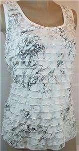 Lane Bryant Womens Plus Size Clothing White Tank Top Shirt Blouse 16