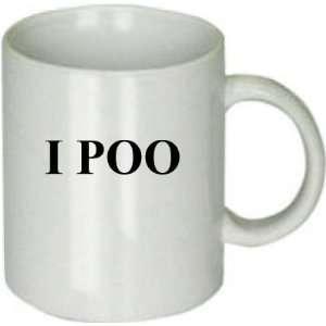 I POO funny coffee cup mug