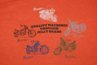 VTG HARLEY DAVIDSON MACHINES JELLY BEANS SHIRT 1982 L
