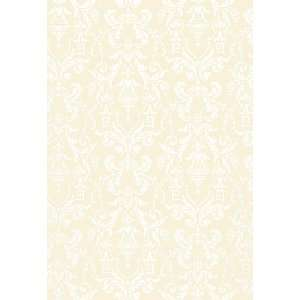 Lido Damask Beige by F Schumacher Wallpaper