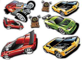 20pc HOT WHEELS Racing Cars WALL STICKERS Kids Cut outs