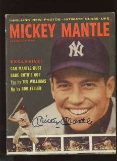 1957 Mickey Mantle Baseballs King Magazine Autographed Hologram