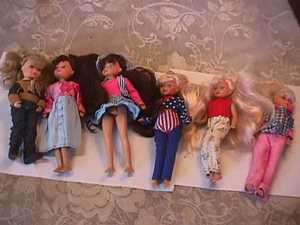 vintage 6 KID KORE DOLLS 8inch 1990 some original clothes ?