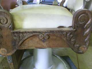 Antique 1800s Wooden Barber Chair Kochs 216