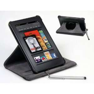 SolarBaks Kindle Fire Leather 360 Case w/ Stainless Steel