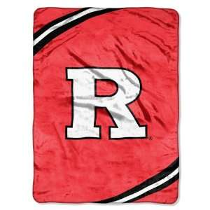 NCAA Rutgers Scarlet Knights FORCE 60x80 Super Plush Throw