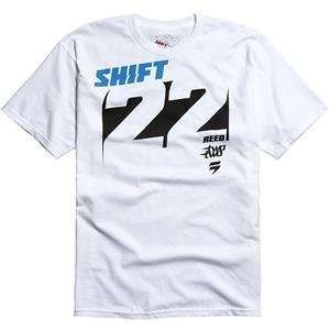 Shift Racing Reed Knockout T Shirt   X Large/White