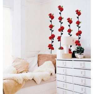 ROSE VINE DECOR MURAL ART WALL PAPER STICKER SWST 01