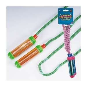 JUMP ROPE WITH GLITTER HANDLES. Assorted colors. Printed card. Size 84