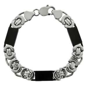 Mens Stainless Steel Black Ion Plated Bracelet Jewelry