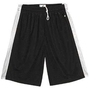 Badger Challenger Mesh 6 Shorts Youth BLACK/WHITE YM