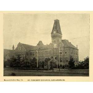 1898 Print St. Vincent Boys College Los Angeles Loyola