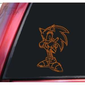 Sonic The Hedgehog Orange Vinyl Decal Sticker Automotive