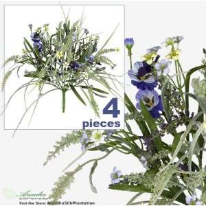 Artificial Flower Grass Arrangement _Lavender Purple: Home & Kitchen