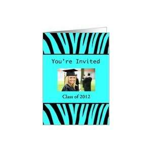 Graduation Party Invitation, Zebra Print Card Toys