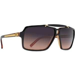 VonZipper Manchu Mens Fashion Sunglasses   Black Amber/Gradient / One