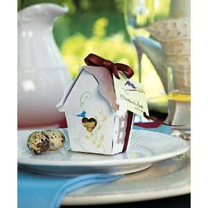 Sweet Bird House Favor Box   12 pack Health & Personal