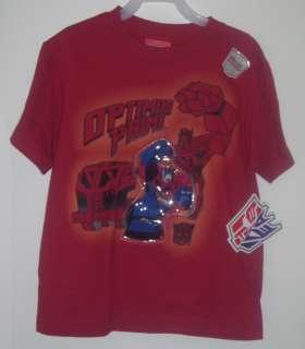 Transformer 6/7 Light Up Optimus Prime Animated Autobot Tee Shirt Boys