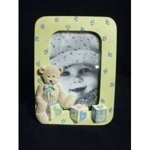 4 x 6 Baby Picture Frame with Teddy Bear & Blocks Baby