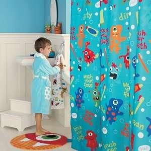 Jumping Beans Monster Eyeball Hand Towel Kid Bath Rug Shower Curtain