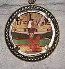 egyptian jewelry isis wings necklace LARGE solid brass