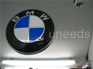 BMW Logo EMBLEM on Stainless Steel License Plate NEW