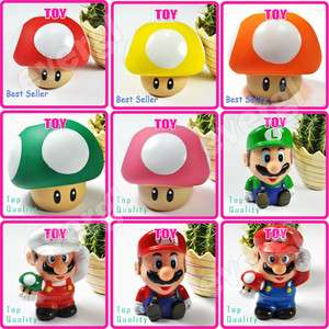 Super Mario BROS Mushroom Coin Piggy Money Bank Figure