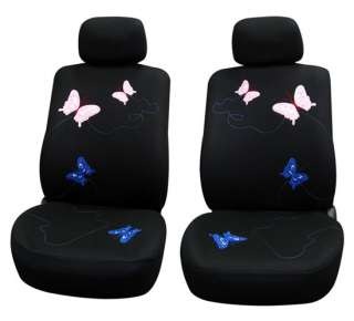 Butterfly Embroidery Full Set Universal Car Seat Cover