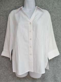 NEW JOANNA Petite Womens Button Down Career Shirt Blouse Top Size PM