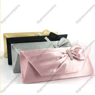 Evening Clutch Purse Bag Wedding Party Handbag Satin Bags With Chain