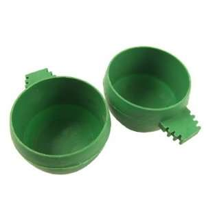 Pcs Dark Green Plastic Feeder Waterer for Canary Gerbil Pet Supplies