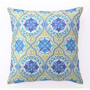 Back Bay in Blue & Green Embroidered Pillow