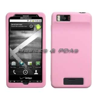 Light Pink Soft Silicone Skin Cover Case for Motorola Droid X / Droid