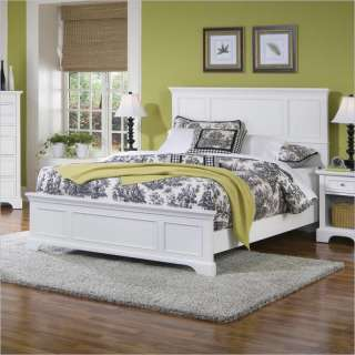 Home Styles Naples Queen Panel White Finish Bed 095385799090
