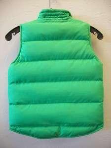 Little Girls Reversible Green Vest Size 4