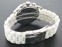 Michael Kors Mens White Rubber Silver Steel Chronograph Sport Watch