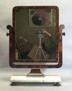 Fine French Ar Deco Marble op Dressing Mirror c. 1920  