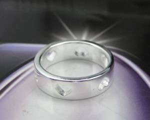 925 Sterling Silver Plated Heart Design Ring JR88
