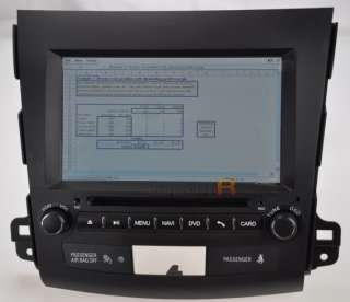 Mitsubishi Outlander DVD GPS Navigation Radio Rockford Fosgate 09 10
